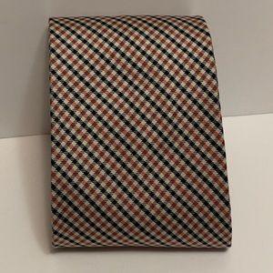 Brooks Brothers Mens Pure Silk Pink/black Neck Tie